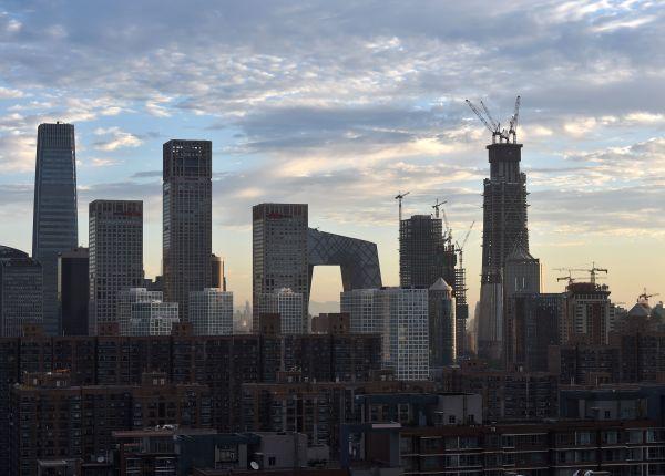 资料图:朝阳CBD核心区。新华社记者 罗晓光 摄