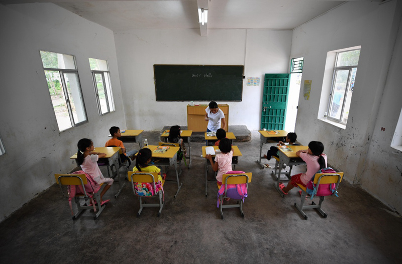 特岗乡村教师 送知识进大山|支教|乡村教师|英语