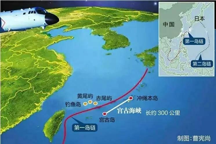 """▲当前中国""""反介入/区域拒止""""的战略重点是阻止和控制第三方外部势力在第二岛链内的自由活动。"""