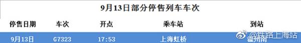 15日上海部分动车票暂停发售