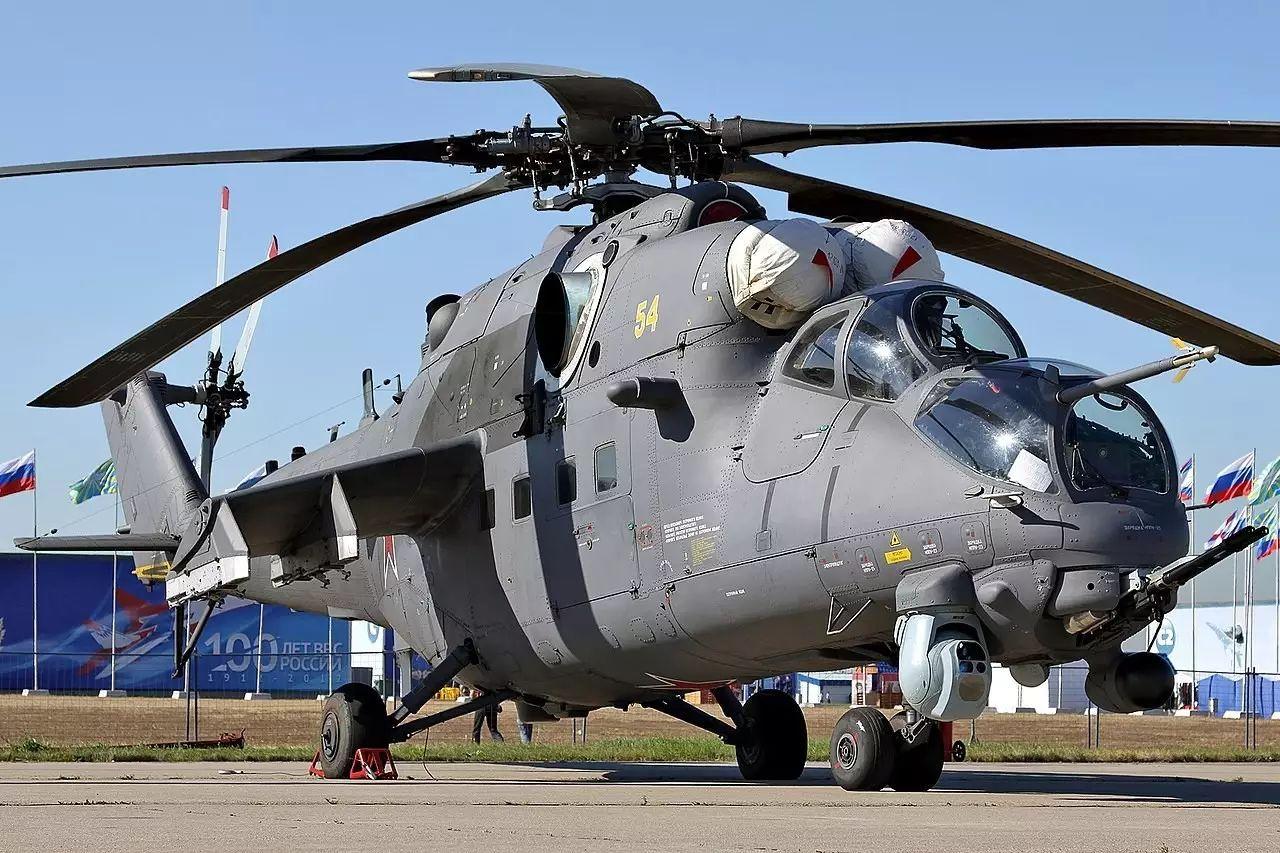▲俄罗斯米-35M武装直升机