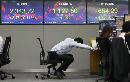 9月8日,KOSPI收盘报2343.72点,较前一交易日下跌2.47点。与中国相关企业股价一致下跌。(韩国《亚洲经济》)