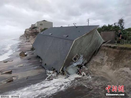 """飓风""""艾尔玛""""冲击美国佛州 造成740万户停电"""