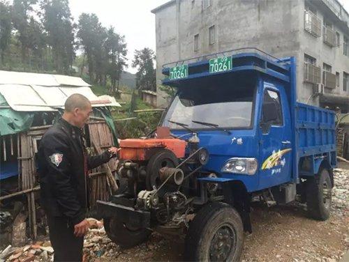 被指作运送碎尸的拖拉机。