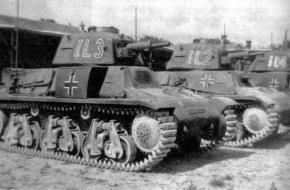 德国人缴获的H39,被命名为38H735(f)继续使用