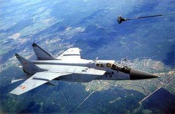 图:冷战时期的米格-31截击机