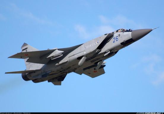 图:俄空军现役的米格-31截击机