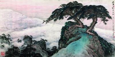 风雨千秋泰岳松(中国画)关山月图片