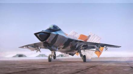 图:米格-41想象图,其依旧采用传统进气布局