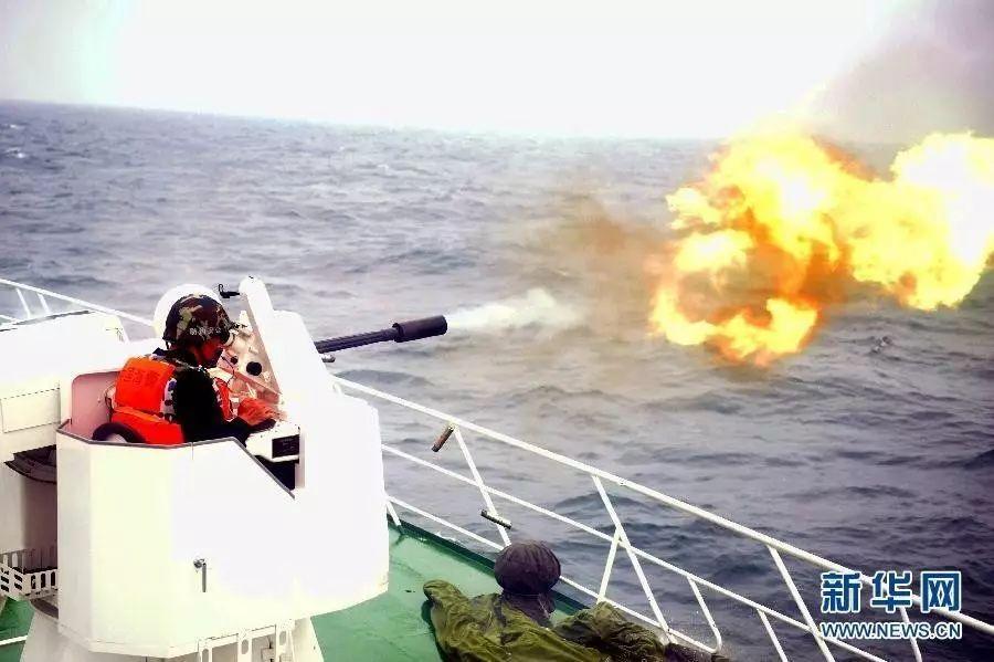 ▲中国海上法律船的舰载兵器开战画面