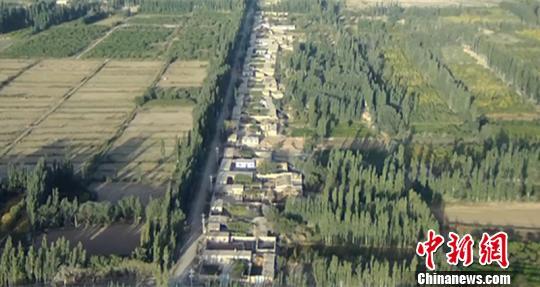 图为无人机拍摄的┞佛区全貌。 阿克苏地域消防支队供给 摄