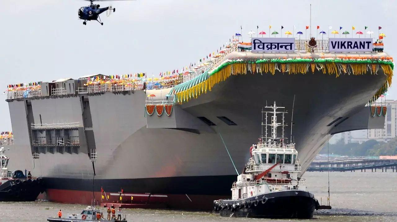 ▲印度国产航母维兰特号