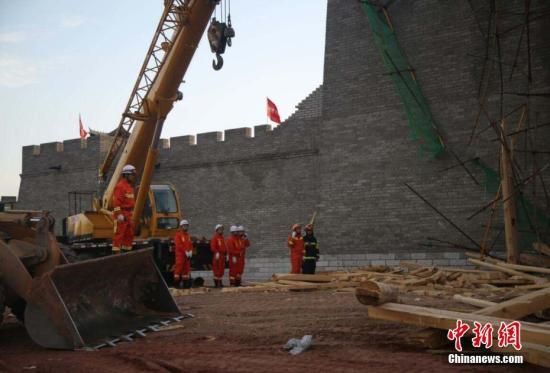 资料图:建筑工地坍塌事故  姜政廷摄