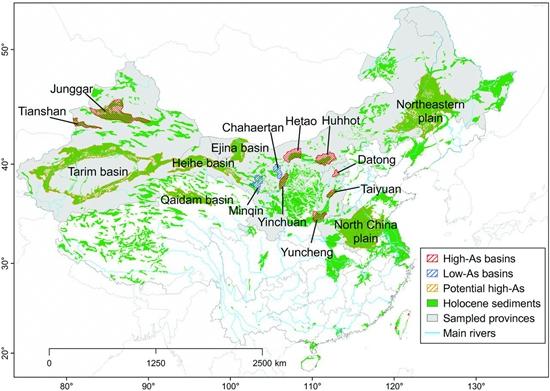 中国地下水砷污染地图