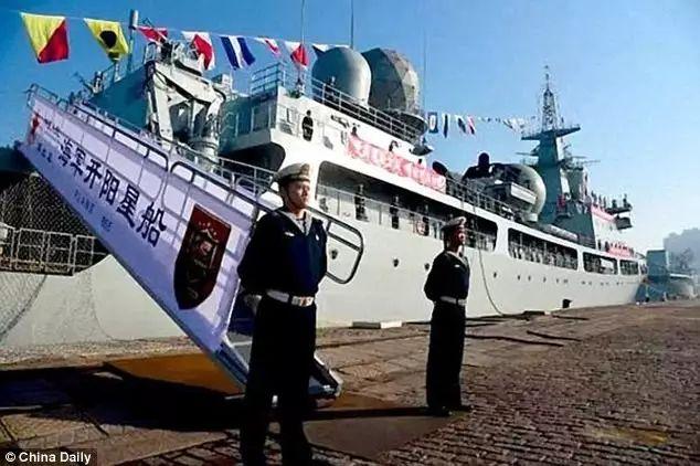 ▲革新型东调级(815A型)侦探船开阳星船