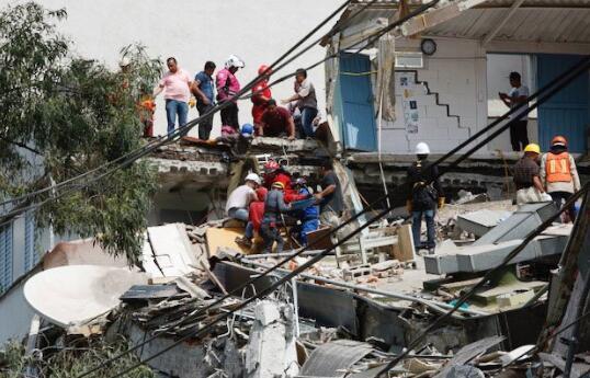 墨西哥7.1级地震已致超119死 多地建筑坍塌起