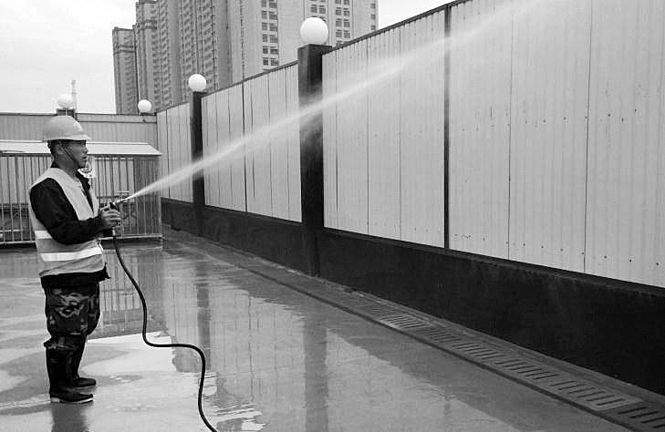 地铁9号线1标区间项目部:治污减霾与施工生产协同推进