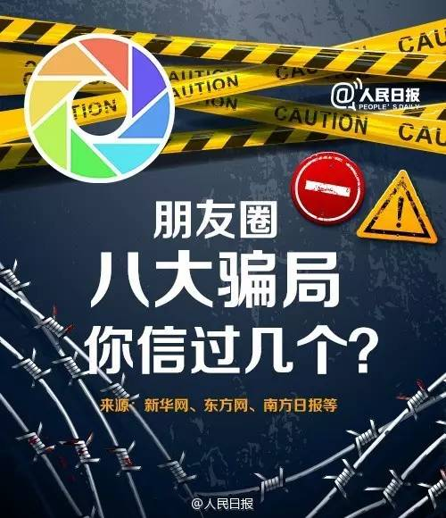 《人民日报》:揭露微信朋友圈8种诈骗手法