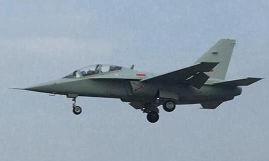 网上撒播的疑似水师航空兵队伍的JL-10飞机。