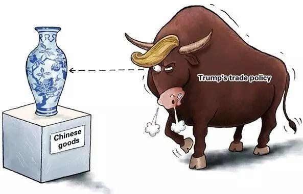 ▲特朗普政府的贸易政策使中美爆发贸易战的可能性依然存在。(美联社)