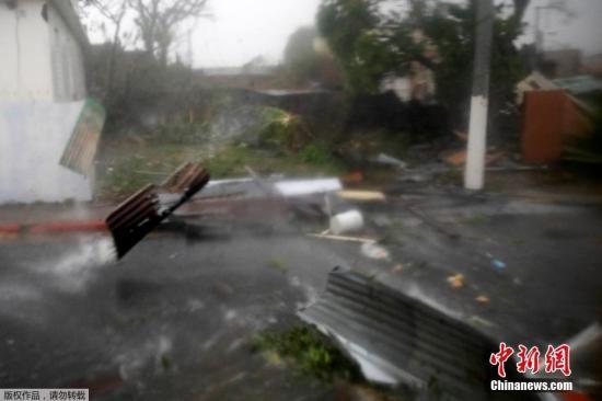飓风玛利亚过境波多黎各洪水泛滥 加勒比地区32死