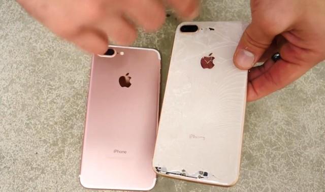 iPhone8 Plus跌落测试:玻璃摔得稀烂