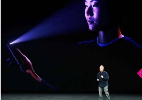 苹果新机iPhone X 亮相,哪怕夜间也能识别你的面部。