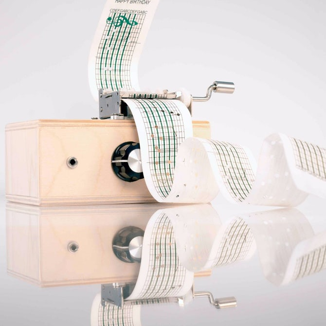 这款可录音的手摇式音乐盒玩具 您想要吗?