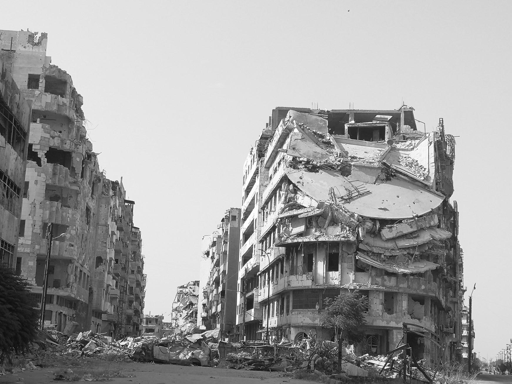 战火后的叙利亚霍姆斯省百废待兴。