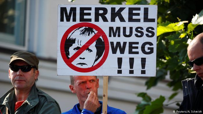 德国选项党支持者尤其反对默克尔的难民政策。(图片来源:德国之声)