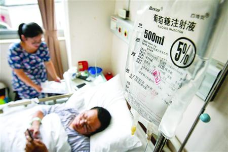 变乱产生后,陈华兵做了脾脏摘除手术,至今仍在住院。 /晨报记者 张佳琪