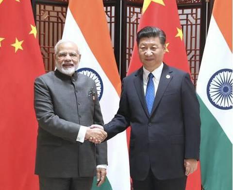 9月5日,国家主席习近平在厦门会见来华出席金砖国家向导人第九次会晤和新兴市场国家与生长中国家对话会的印度总理莫迪。(图源:新华社)
