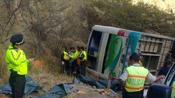 厄瓜多尔发生车祸 致13人死亡28人受伤