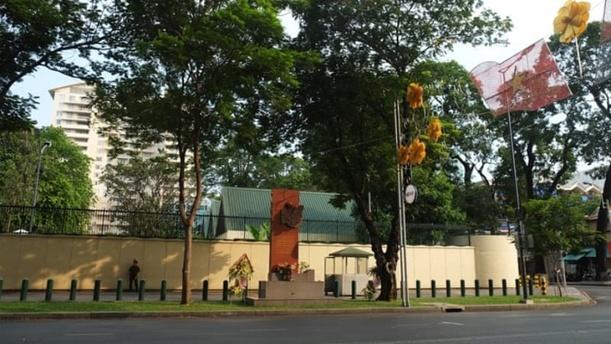 位于越南胡志明市的美国领事馆。(图片来源:越南快报网站)