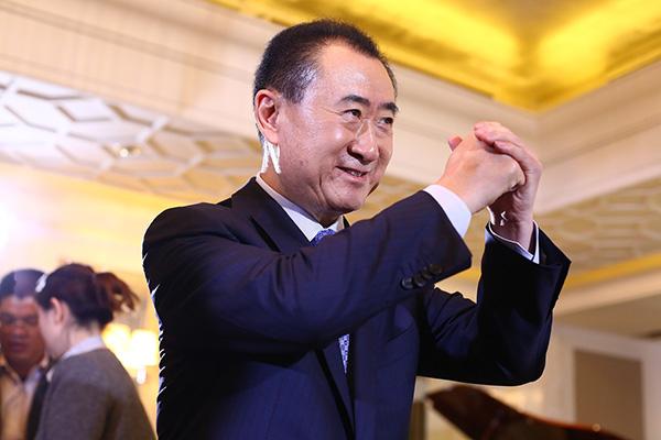 王健林。视觉中国 资料图