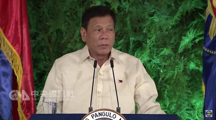 """菲律宾总统杜特尔特日前点名批评台湾(图片来源:""""中央社"""")"""