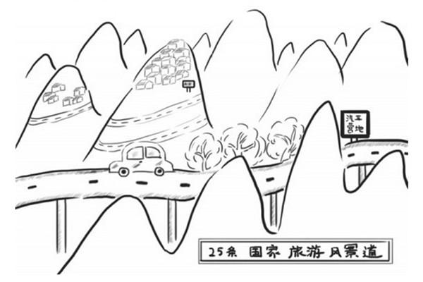 手绘内蒙古风景