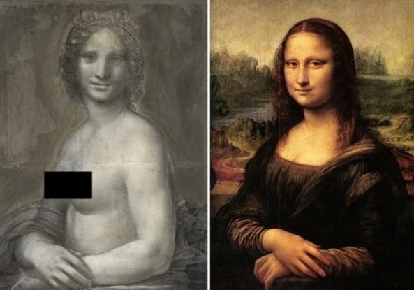 蒙娜丽莎或真有裸体姐妹作 法国现神似同期的作品