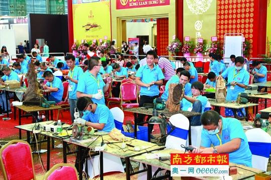 139名红木雕刻师同台竞技