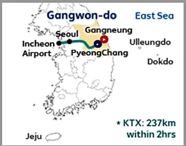 韩国2018年平昌冬奥会官网公布的世界地图
