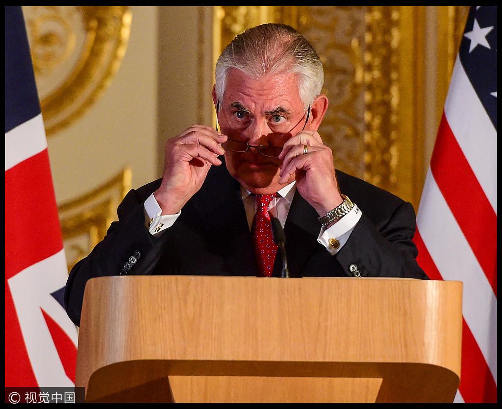 美国国务卿蒂勒森(资料图 来源视觉中国)