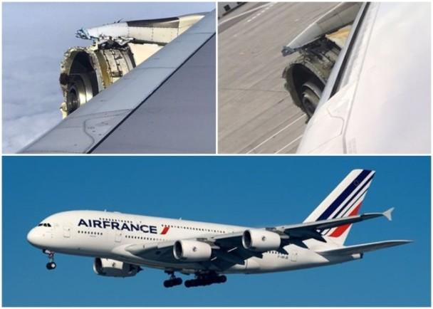 法航一架A380引擎空中解体 紧急降落加拿大机场