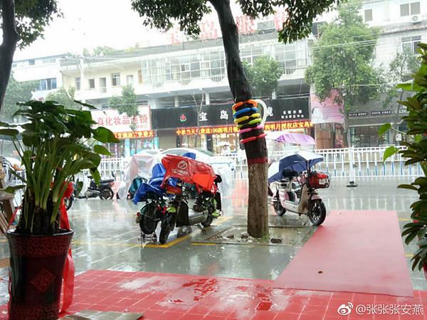 昨天,河南驻马店出现降雨。(来源:微博 @张张张安燕)