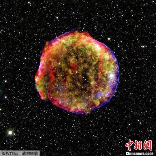 图为一张典型的超新星遗迹资料图。