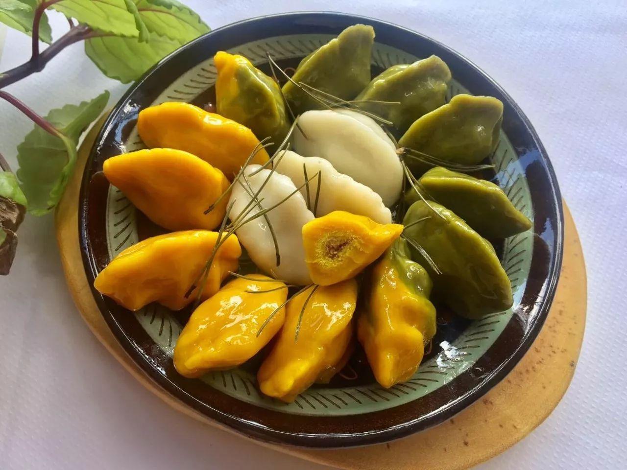 """▲韩国中秋节传统食品""""松饼""""(图片来源:Wikipedia)"""