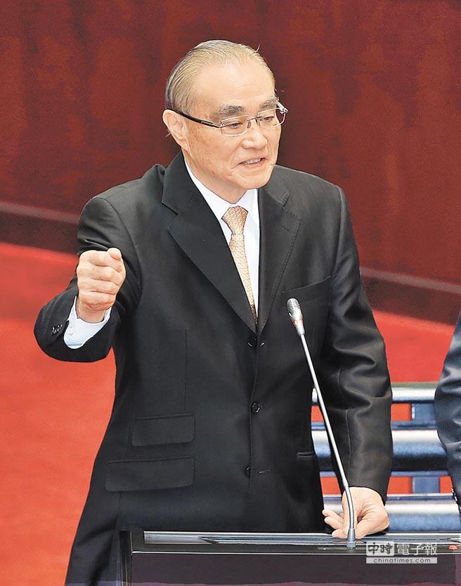 """台当局防务部门负责人冯世宽(图片来源:""""中时电子报"""")"""
