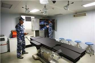 东平湖舰上手术室可开展大多数2、3类手术