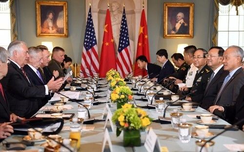 △首轮中美外交安全对话在美国华盛顿举行