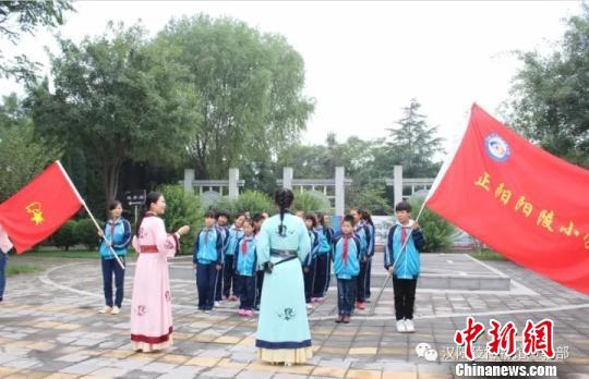 汉景帝阳陵博物院举办社会教育活动。 陕西省文物局 摄