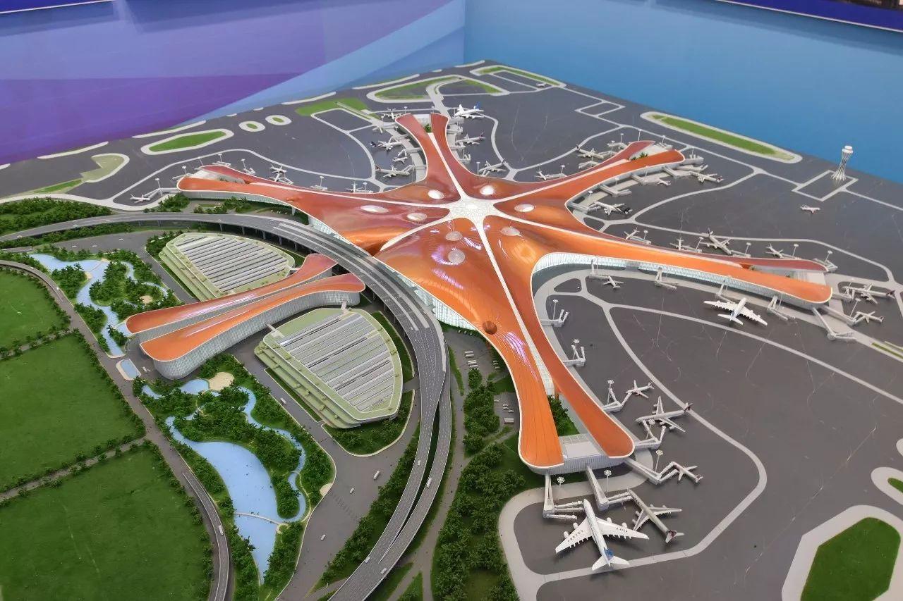 △北京新机场模型/视觉中国